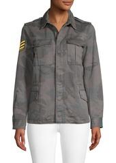 Zadig & Voltaire Kayak Camo Print Military Jacket