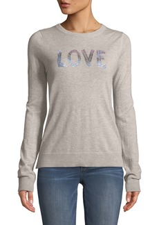 Zadig & Voltaire Love Embellished Graphic Cashmere Sweater