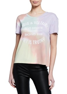 Zadig & Voltaire Marta Tie-Dye Graphic Tee