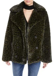 Zadig & Voltaire Miles Leopard-Print Faux-Fur Coat