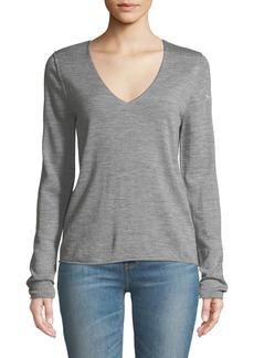 Zadig & Voltaire Nosfa V-Neck Embellished Wool Sweater