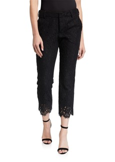 Zadig & Voltaire Posh Scalloped Lace Ankle Pants
