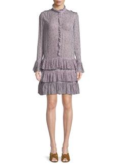 Zadig & Voltaire Rebbie Goa Ditsy Floral Drop-Waist Mini Dress