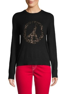 Zadig & Voltaire Rhineston Peace-Sign Cashmere Sweater