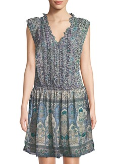 Zadig & Voltaire Rimana Ruffle-Front Floral-Chiffon Dress