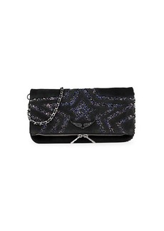 Zadig & Voltaire Rock Star Glitter Shoulder Bag