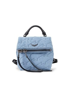 Zadig & Voltaire Romy Quilted Denim Backpack