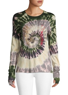 Zadig & Voltaire Sequin Tie-Dyed Cotton Top