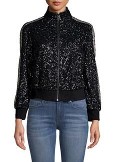 Zadig & Voltaire Sequin Zip-Up Jacket