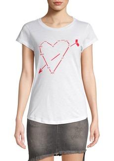 Zadig & Voltaire Skinny Heart Constellation Tee