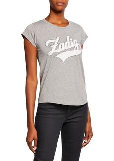 Zadig & Voltaire Skinny Strass Graphic-Print Crewneck Cotton T-Shirt
