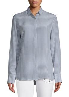 Zadig & Voltaire Striped Silk Button-Down Shirt