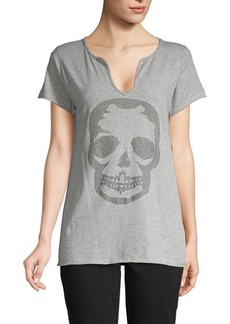 Zadig & Voltaire Studded Skull Cotton Top