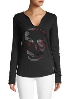 Zadig & Voltaire Studded Skull Henley