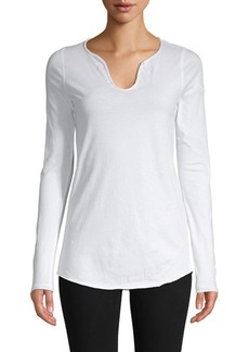 Zadig & Voltaire Tunys Embroidered Cotton Tee