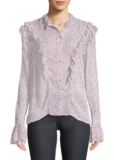 Zadig & Voltaire Tweet Goa Ditsy Floral Button-Front Blouse