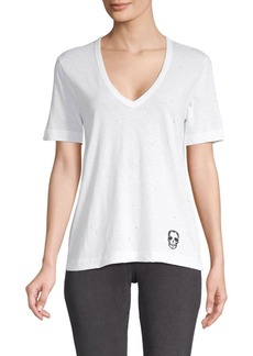 Zadig & Voltaire V-Neck Cotton-Blend Tee