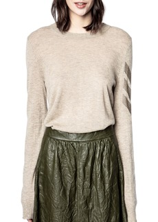 Women's Zadig & Voltaire Arrow Sleeve Cashmere Sweater