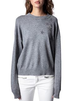 Women's Zadig & Voltaire Gaby Strass Stars Wool & Cashmere Sweater