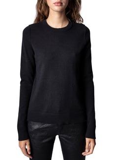 Women's Zadig & Voltaire Women'S Miss Camo Skull Strass Sweater
