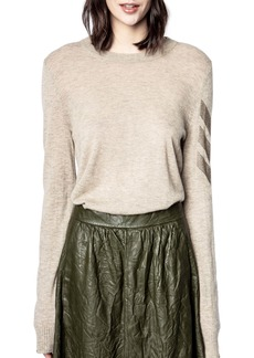 Zadig & Voltaire Arrow Sleeve Cashmere Sweater