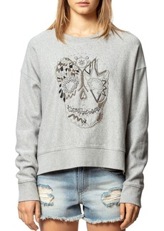 Zadig & Voltaire Champ Embroidered Skull Sweatshirt