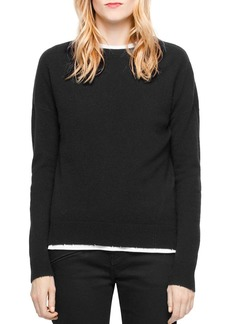 Zadig & Voltaire Cici Star-Patch Cashmere Sweater