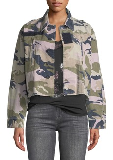 Zadig & Voltaire Cropped Camo-Print Military Jacket