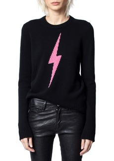 Zadig & Voltaire Delly C Flash Lightning Bolt Cashmere Sweater