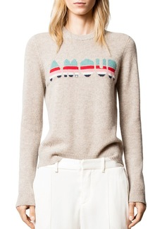 Zadig & Voltaire Delly Cashmere Amour Sweater
