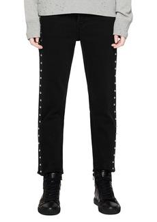Zadig & Voltaire Elios Spikes Boyfriend Jeans in Noir