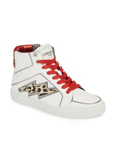 Zadig & Voltaire Flash Leo High-Top Sneaker (Women)