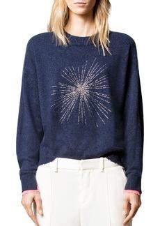 Zadig & Voltaire Gaby Cashmere Solar Strass Sweater