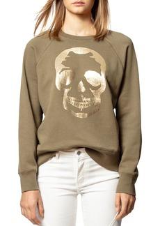 Zadig & Voltaire Gold Foiled Skull Sweatshirt