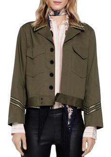 Zadig & Voltaire Kalen Military-Style Jacket
