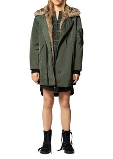 Zadig & Voltaire Kass Faux Fur-Lined Nylon Jacket