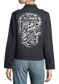 Zadig & Voltaire Kavy Zip-Front Long-Sleeve Woven Jacket