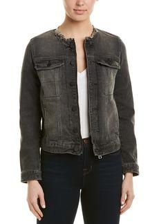 Zadig & Voltaire Kiok Gris Brode Deluxe Jacket