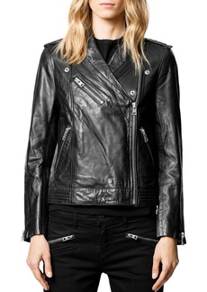 Zadig & Voltaire Leather Moto Jacket