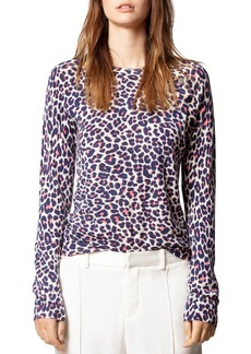 Zadig & Voltaire Leopard-Print Cashmere Sweater