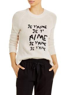 Zadig & Voltaire Lili Intarsia Graphic Sweater