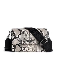 Zadig & Voltaire Lolita Wild Snake Embossd Leather Shoulder Bag