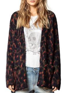 Zadig & Voltaire Marilou Leopard-Printed Cashmere Cardigan