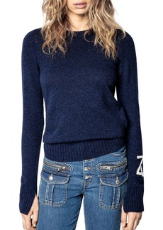 Zadig & Voltaire Marled Cashmere Logo Sweater