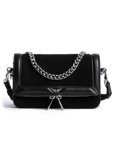 Zadig & Voltaire Nano Rock Suede & Leather Crossbody Bag