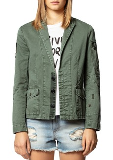 Zadig & Voltaire New Virginia Grunge Cotton Jacket