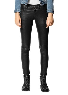 Zadig & Voltaire Phlame Crinkled-Leather Pants