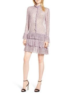 Zadig & Voltaire Rebbie Goa Ruffle Floral Chiffon Dress