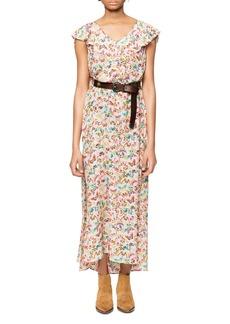 Zadig & Voltaire Reen Butterfly Silk Maxi Dress