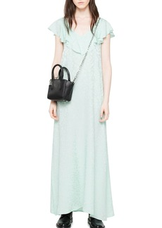 Zadig & Voltaire Reen Leopard Silk Maxi Dress